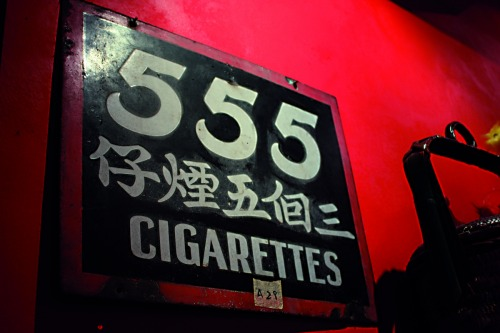 Wayfinding and Typographic Signs - 555-cigarettes
