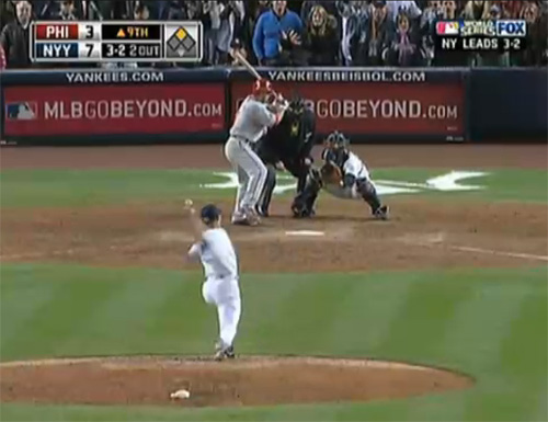 Screenshot from the 2009 World Series