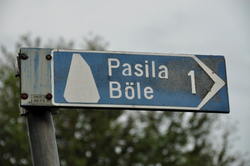Wayfinding and Typographic Signs - pasila