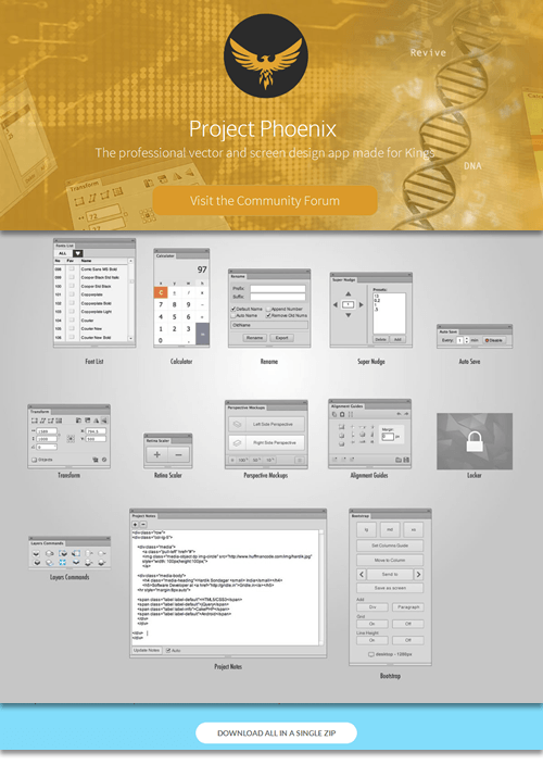 Project Phoenix (free extensions for Fireworks, all updated)