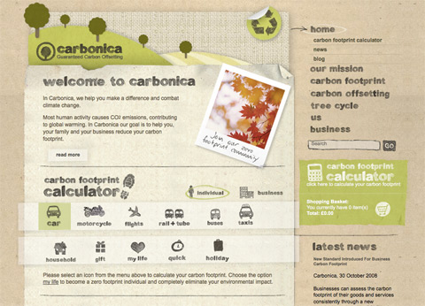 Carbonica website