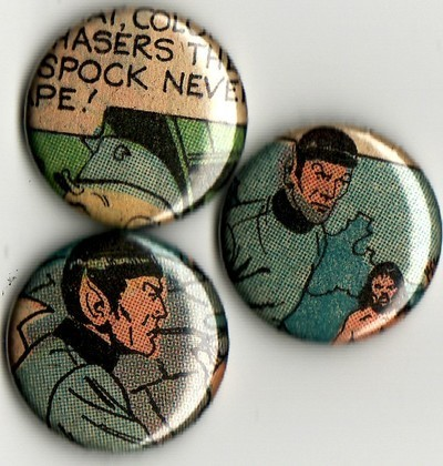 Pins, Badges and Buttons - spock pins