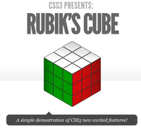 CSS3 Designs For Free Download - css3-rubiks-cube