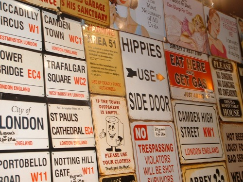 Wayfinding and Typographic Signs - camden-signs