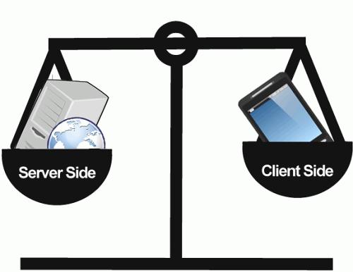 Serverside or client side