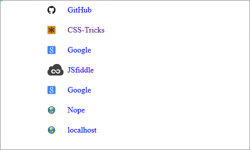 Favicons Next To External Links