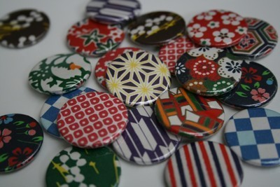 Pins, Badges and Buttons - origami badges