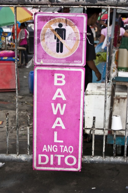 Wayfinding and Typographic Signs - pink-mmda-signage