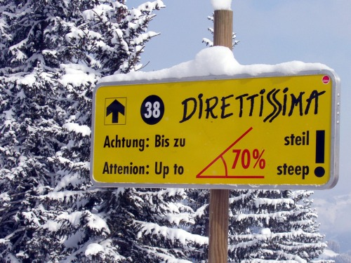 Wayfinding and Typographic Signs - steep-hahnenkamm