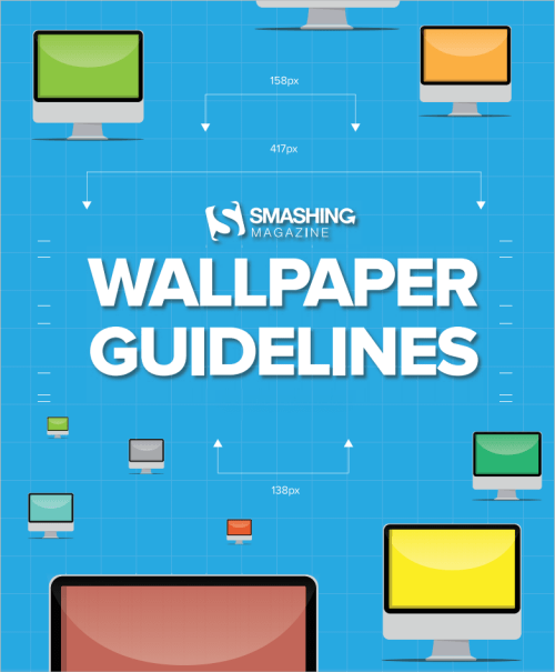 An image explaining the wallpaper guidelines