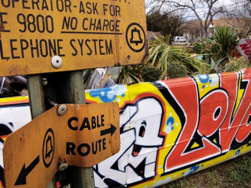 Wayfinding and Typographic Signs - opposing-type