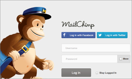 MailChimp: Social Login Buttons Aren't Worth It