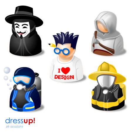DressUp! Avatars Icon Set