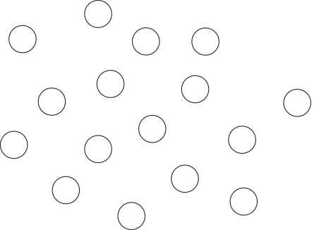 Circles with no spacial proximity