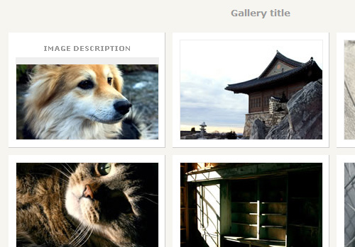 CSS Photo Gallery Template