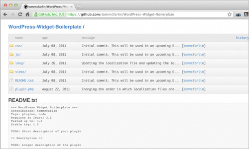 WordPress Widget Boilerplate