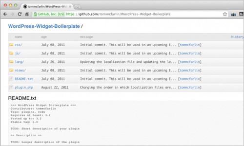 WordPress Widget Boilerplate