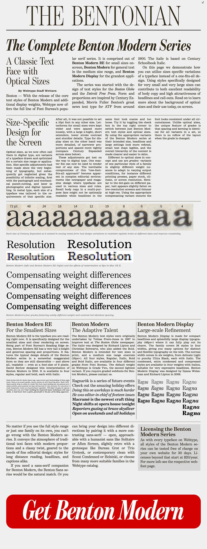 Benton Modern, A Case Study On Art-Directed Responsive Web Typography