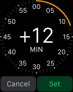 Example of using the crown: Apple Watch Settings, Brightness and Text Size