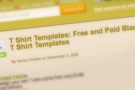 T-Shirt Templates: Free and Paid