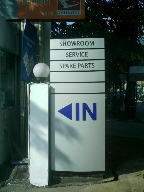 Wayfinding and Typographic Signs - service-station-signage