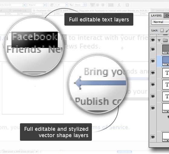 Free Full Layered Facebook GUI PSD Kit — Smashing Magazine