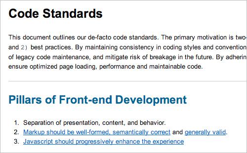 Code Standards