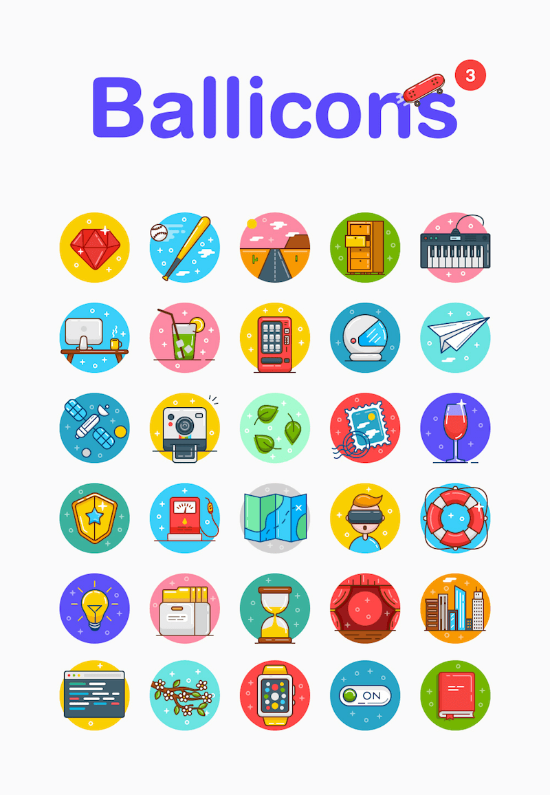 Ballicons full preview