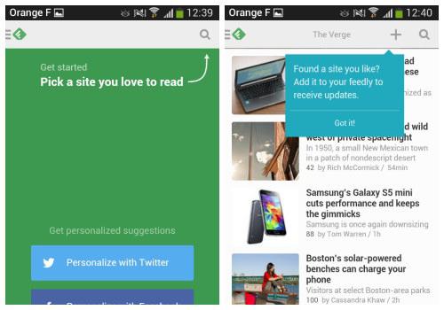 Display hints as user goes through app.
