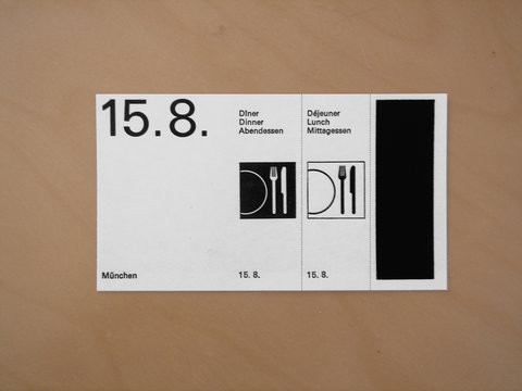 Swiss Graphic Design - Meal Voucher