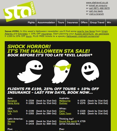 STA Travel newsletter issue 254