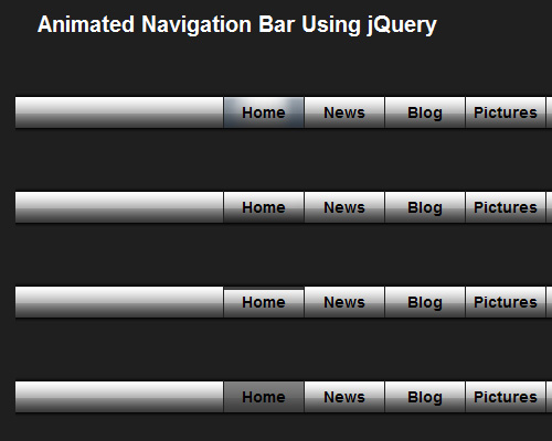 Animated Navigation Bar Using jQuery