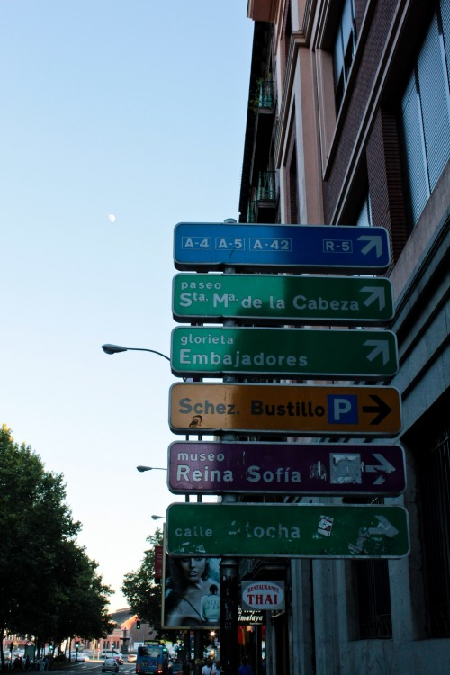 Wayfinding and Typographic Signs - prado