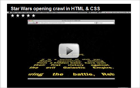 Star Wars HTML and CSS: A NEW HOPE