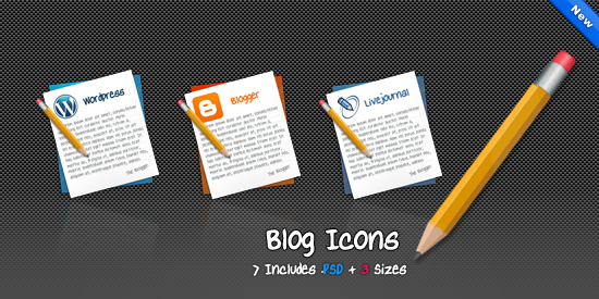 Free Icons Round-Up - Blog Icons