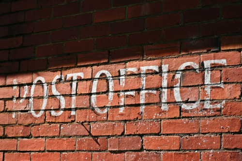 Wayfinding and Typographic Signs - post-office