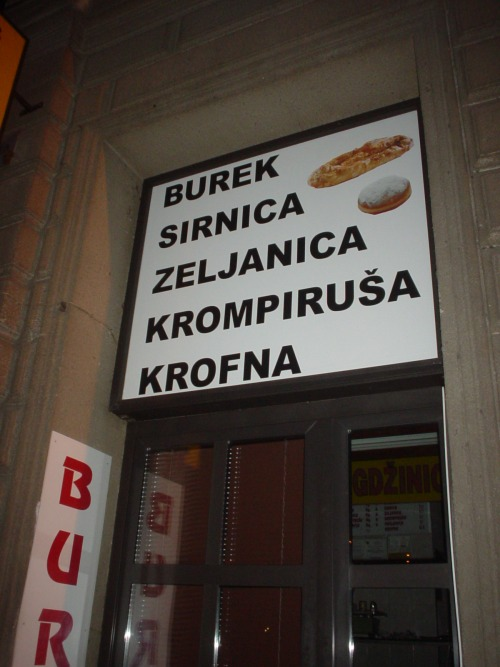 Wayfinding and Typographic Signs - burek-vs-doughnut