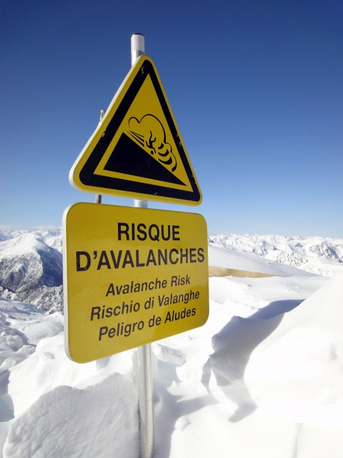 Wayfinding and Typographic Signs - avalanches