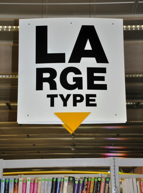Wayfinding and Typographic Signs - large-type