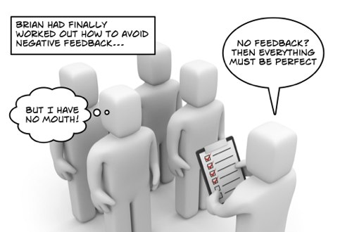 Clients with no mouths are asked for their feedback