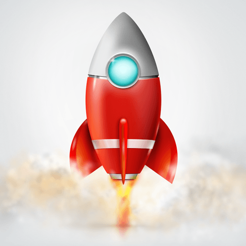 The final rocket icon design.