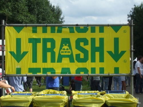Wayfinding and Typographic Signs - party-trash