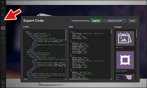 Exporting code