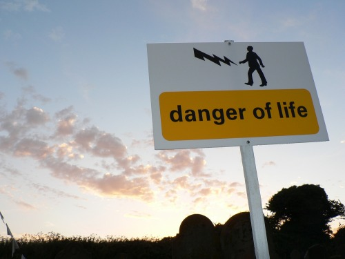Wayfinding and Typographic Signs - danger-of-life