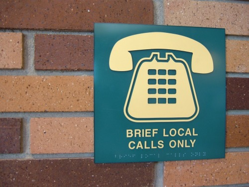 Wayfinding and Typographic Signs - brief-local-calls-only
