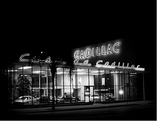 Vintage Signage - casa de cadillac. sherman oaks, ca. 1995.