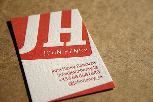 Business card design starter kit showcase tutorials templates greg anderson this card works because of the stylish dirty texture good use of color and of course letterpress designed by thomas guy reheart Gallery