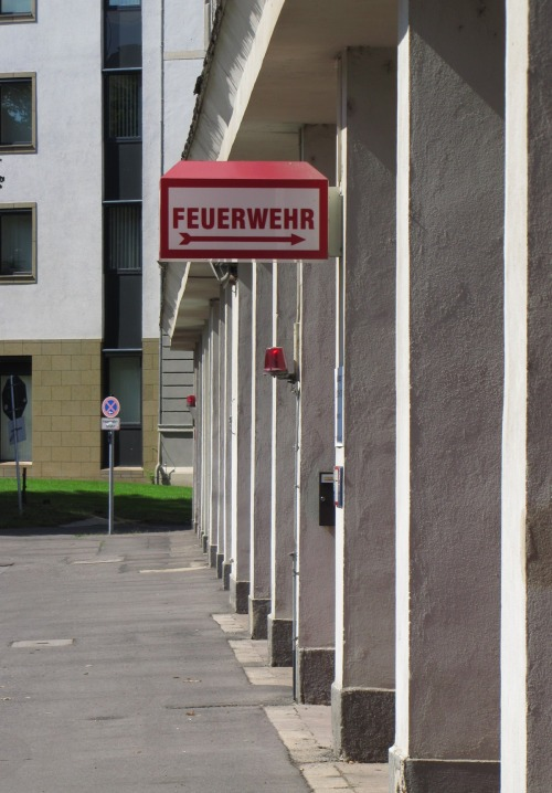 Wayfinding and Typographic Signs - fire-station-leipzig