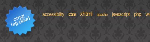 Creating an Accessible Tag Cloud in PHP and CSS