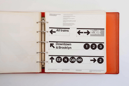 A page of the New York City Transit Authority Design Manual